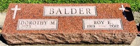BALDER, ROY E. - Buena Vista County, Iowa | ROY E. BALDER