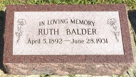 QUIST BALDER, RUTH - Buena Vista County, Iowa | RUTH QUIST BALDER