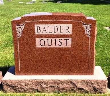 BALDER-QUIST, FAMILY MONUMENT - Buena Vista County, Iowa | FAMILY MONUMENT BALDER-QUIST