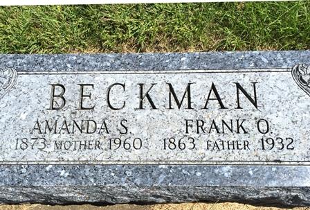 BECKMAN, FRANK O. - Buena Vista County, Iowa   FRANK O. BECKMAN