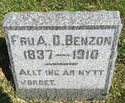 BENZON, A..  D - Buena Vista County, Iowa | A..  D BENZON