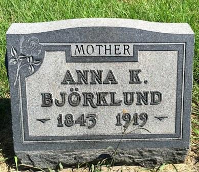 PETERSON BJÖRKLUND, ANNA K. - Buena Vista County, Iowa | ANNA K. PETERSON BJÖRKLUND