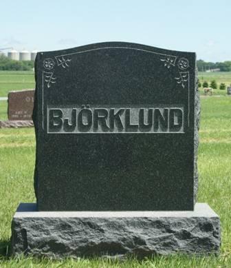 BJÖRKLUND, CARL J., FAMILY MONUMENT - Buena Vista County, Iowa | FAMILY MONUMENT BJÖRKLUND, CARL J.