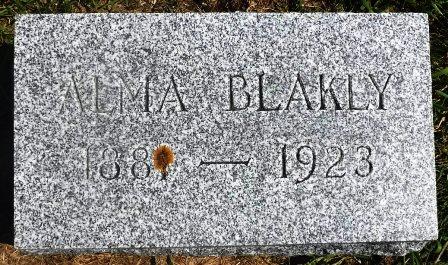 JOHNSON BLAKLY, ALMA - Buena Vista County, Iowa | ALMA JOHNSON BLAKLY