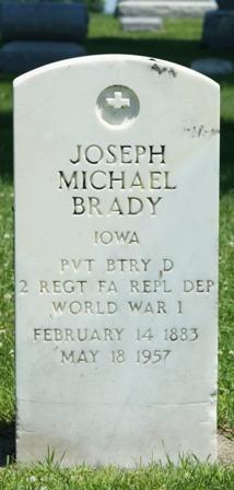 BRADY, JOSEPH MICHAEL - Buena Vista County, Iowa   JOSEPH MICHAEL BRADY