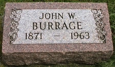 BURRAGE, JOHN W. - Buena Vista County, Iowa   JOHN W. BURRAGE