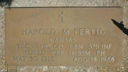 FERTIG, HAROLD M. - Buena Vista County, Iowa   HAROLD M. FERTIG