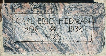 HEDMAN, CARL ERIC - Buena Vista County, Iowa   CARL ERIC HEDMAN