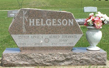 HELGESON, ESTHER ARVILLA - Buena Vista County, Iowa   ESTHER ARVILLA HELGESON