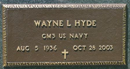 HYDE, WAYNE L. - Buena Vista County, Iowa   WAYNE L. HYDE