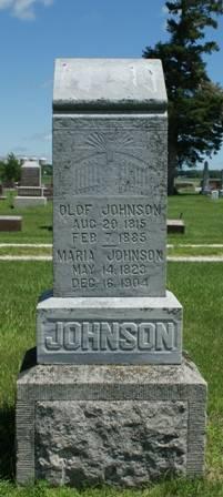 JOHNSON, OLOF - Buena Vista County, Iowa   OLOF JOHNSON