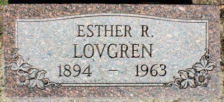 LOVGREN, ESTHER R. - Buena Vista County, Iowa   ESTHER R. LOVGREN