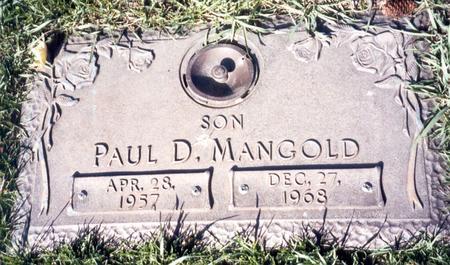 MANGOLD, PAUL D - Buena Vista County, Iowa   PAUL D MANGOLD