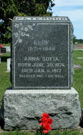 PETERSON, ANNA SOFIA - Buena Vista County, Iowa   ANNA SOFIA PETERSON