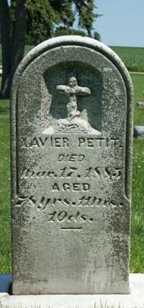 PETIT, XAVIER - Buena Vista County, Iowa   XAVIER PETIT