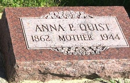 ANDERSON QUIST, ANNA P. - Buena Vista County, Iowa | ANNA P. ANDERSON QUIST