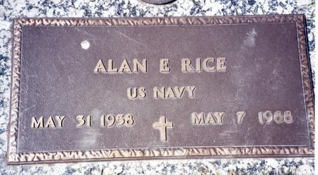 RICE, ALAN E - Buena Vista County, Iowa   ALAN E RICE