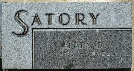 SATORY, META D. - Buena Vista County, Iowa | META D. SATORY