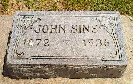 SINS, JOHN - Buena Vista County, Iowa   JOHN SINS