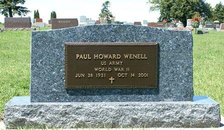 WENELL, PAUL HOWARD - Buena Vista County, Iowa   PAUL HOWARD WENELL