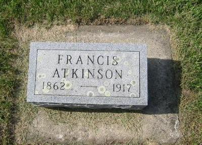 ATKINSON, FRANK - Butler County, Iowa   FRANK ATKINSON