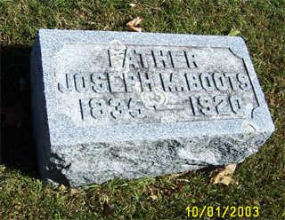 BOOTS, JOSEPH - Butler County, Iowa | JOSEPH BOOTS