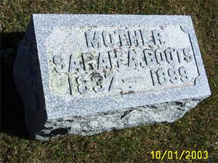 BOOTS, SARAH ANN - Butler County, Iowa   SARAH ANN BOOTS