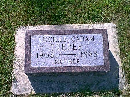 VAN SLYKE CADAM, LEEPER, LUCILLE - Butler County, Iowa | LUCILLE VAN SLYKE CADAM, LEEPER