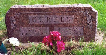 CORDES, ANNA - Butler County, Iowa   ANNA CORDES