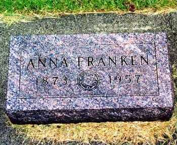 VAN HORN FRANKEN, ANNA - Butler County, Iowa | ANNA VAN HORN FRANKEN