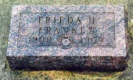 FRANKEN, FRIEDA H. - Butler County, Iowa | FRIEDA H. FRANKEN