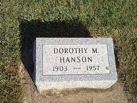 HANSON, DOROTHY - Butler County, Iowa | DOROTHY HANSON