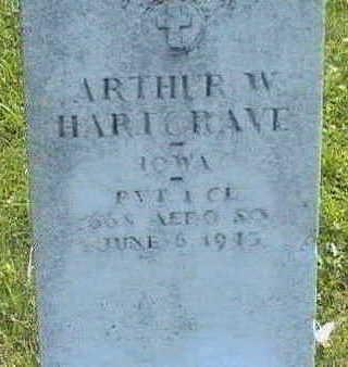 HARTGRAVE, ARTHUR W. - Butler County, Iowa   ARTHUR W. HARTGRAVE