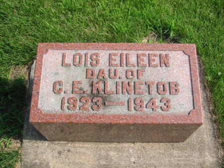 KLINETOB, LOIS EILEEN - Butler County, Iowa   LOIS EILEEN KLINETOB