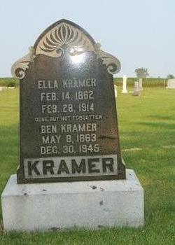 KRAMER, ELLA - Butler County, Iowa   ELLA KRAMER