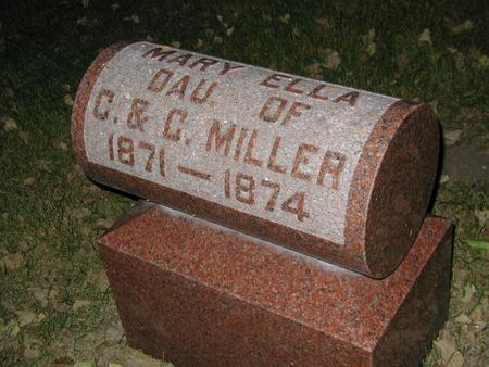 MILLER, MARY ELLA - Butler County, Iowa | MARY ELLA MILLER
