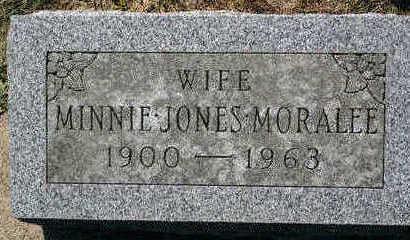 JONES MORALEE, MINNIE - Butler County, Iowa | MINNIE JONES MORALEE