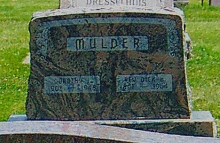 MULDER, REV. DICK H. - Butler County, Iowa | REV. DICK H. MULDER
