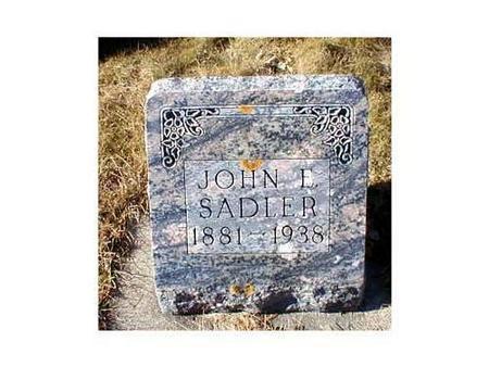 SADLER, JOHN E. - Butler County, Iowa | JOHN E. SADLER