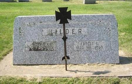WILDER, ERNEST E - Butler County, Iowa | ERNEST E WILDER