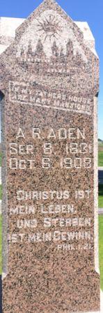 ADEN, A. R. - Calhoun County, Iowa | A. R. ADEN