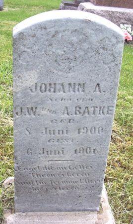 BATKE, JOHANN A - Calhoun County, Iowa | JOHANN A BATKE