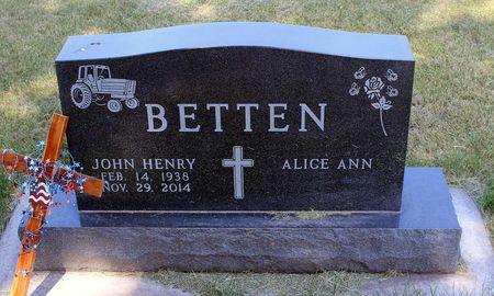 BETTEN, JOHN HENRY - Calhoun County, Iowa | JOHN HENRY BETTEN