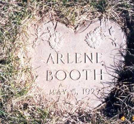 BOOTH, ARLENE - Calhoun County, Iowa   ARLENE BOOTH