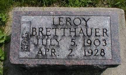 BRETTHAUER, LEROY - Calhoun County, Iowa | LEROY BRETTHAUER