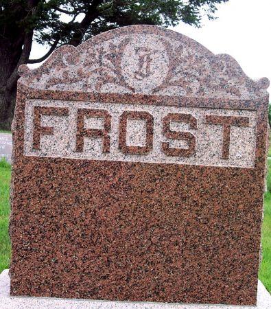 FROST, FAMILY MEMORIAL - Calhoun County, Iowa | FAMILY MEMORIAL FROST