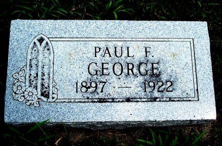 GEORGE, PAUL FREDERICK - Calhoun County, Iowa   PAUL FREDERICK GEORGE