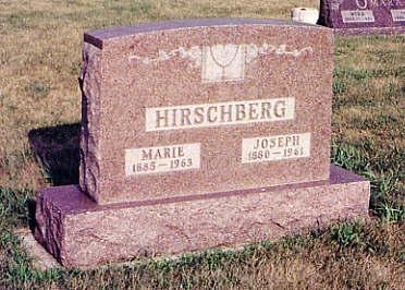 VOLKMER HIRSCHBERG, MARIE - Calhoun County, Iowa | MARIE VOLKMER HIRSCHBERG