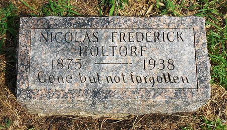 HOLTORF, NICOLAS FREDERICK - Calhoun County, Iowa   NICOLAS FREDERICK HOLTORF