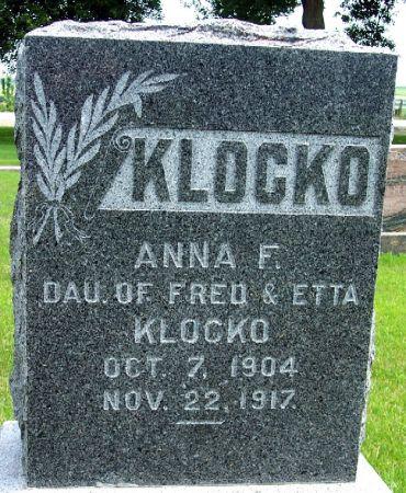 KLOCKO, ANNA FREDRICKA - Calhoun County, Iowa | ANNA FREDRICKA KLOCKO